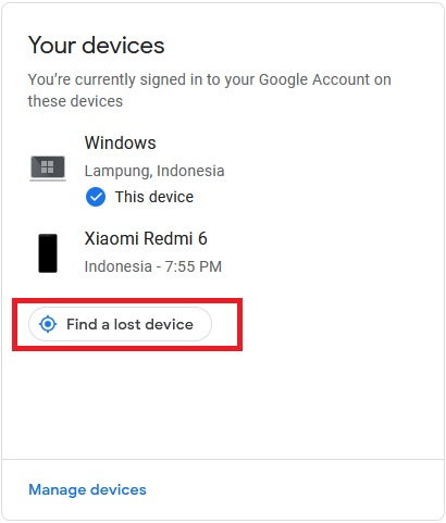 Find a lost device