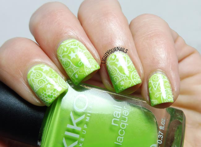 Green Christmas nails nailart