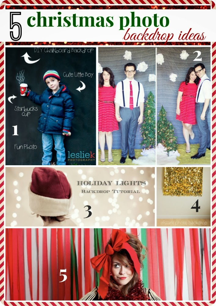 5 Christmas Photo Backdrop Ideas