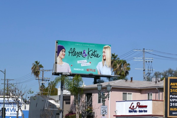 Alexa Katie TV series billboard
