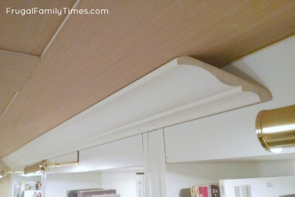 bookcase lighting crown moulding