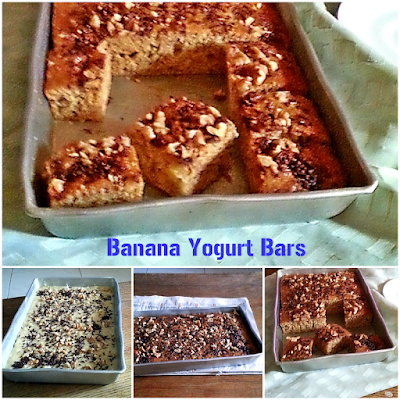 Banana Yogurt Bars Recipe @ treatntrick.blogspot.com