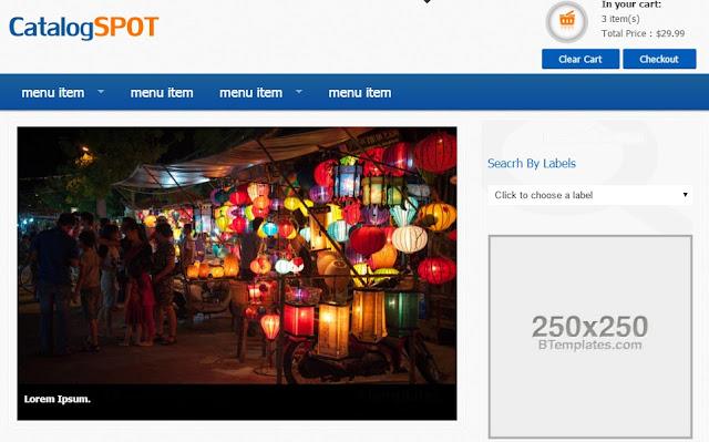 Hướng dẫn thiết kế website bán hàng miễn phí bằng Template Blogspot CatalogSpot