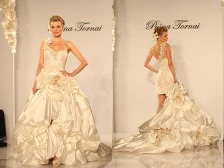 Trouwjurk 2 In 1.Bruidsjurk 2013 Online Hoog Laag Trouwjurk Leidt De Mode Voor 2013