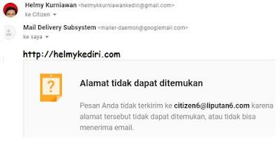 Mengatasi pesan gmail yang gagal terkirim atau ditolak