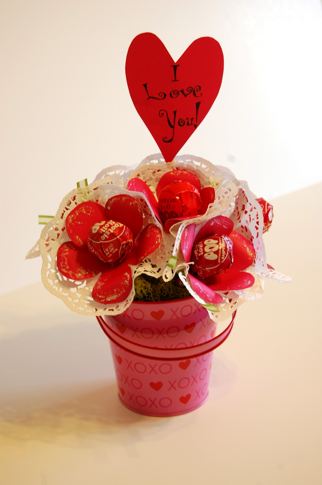 One Sunny Home Diy Valentine S Day Lollipop Bouquet