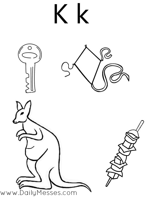Daily Messes: K is for Kangaroo, Kite, and Kiwi