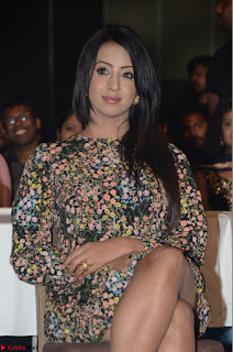 Sanjjanaa Galrani in short printed dress at Rogue Movie Audio Launch 13th March 2017