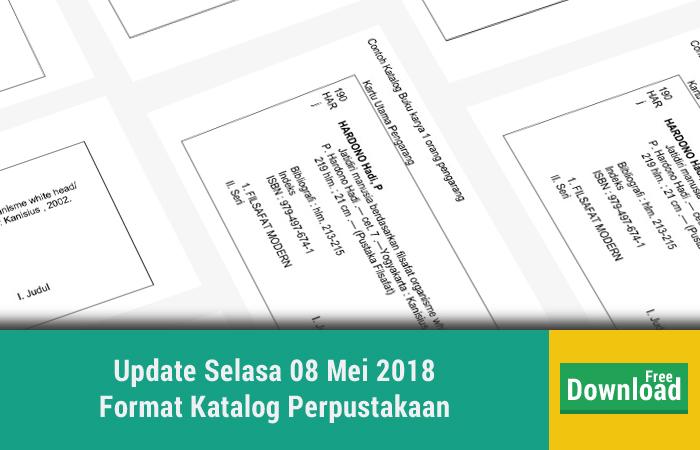 Update Selasa 08 Mei 2018 Format Katalog Perpustakaan