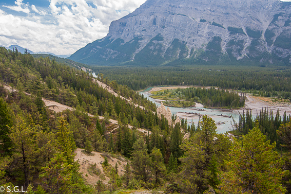 Bow valley view. Banff. Canada