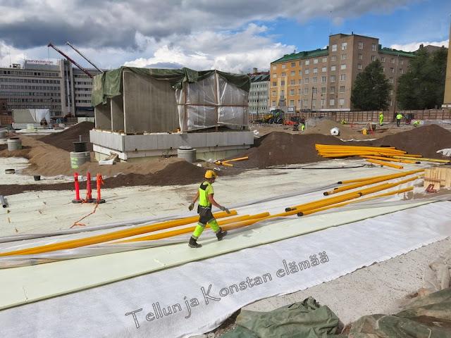 toriparkki työmaa Lahti