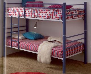 cama litera, cama forja alta, cama litera convertible en 2, camas dobles