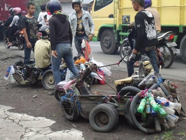 Bukti Kekreatifan Anak Vespa Indonesia dengan Modifikasi
