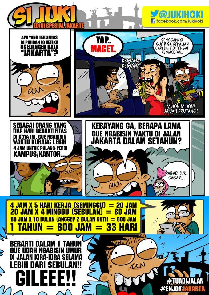 Gambar Lucu cerita lucu Komik si JukiGoresan Hati