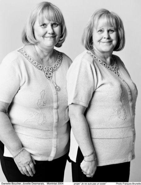 Ensaio fotográfico com pessoas que são muito parecidas mas não possuem grau de parentesco
