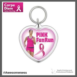 Promotional Pink Ribbon Key Tags