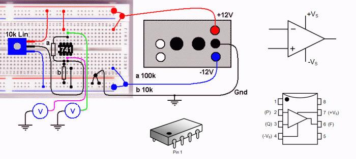 +15 دائرة الكترونية باستخدام Op-Amp (مكبرات العمليات)