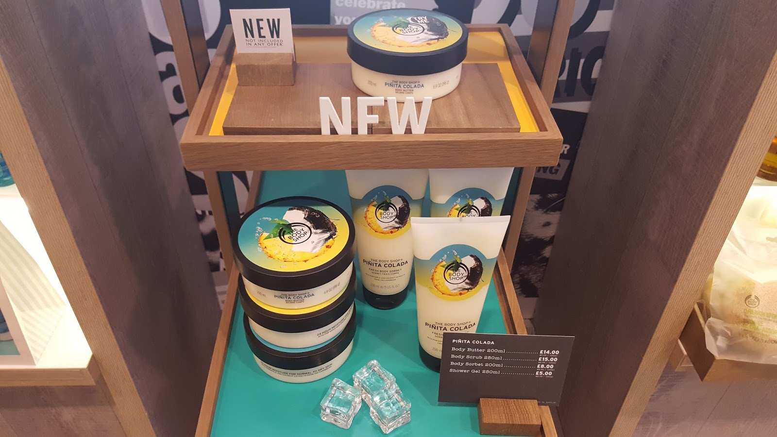 The Body Shop new Pinita pina Colada bodycare range
