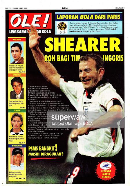 ALAN SHEARER ENGLAND 1998