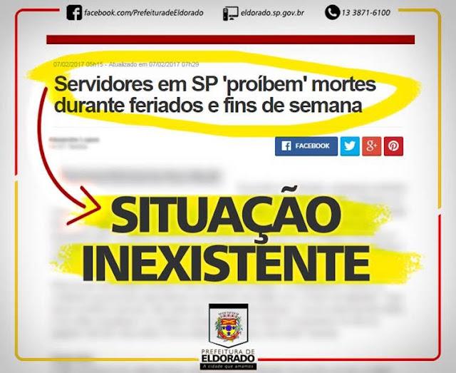NOTA OFICIAL - CEMITÉRIO MUNICIPAL DE ELDORADO-SP