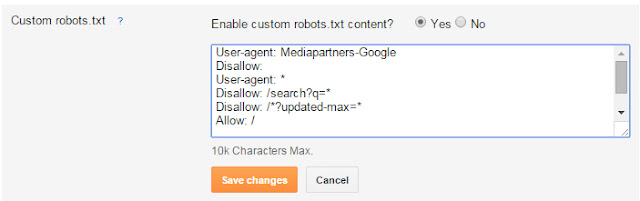 SEO Custom Robot.txt. file