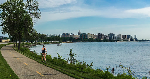 Along the Capital City State Trail in Madison WI