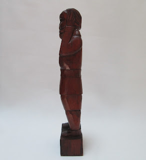 Wood Carved Mexican Conguistador Side View