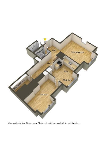 plan de amenajare pentru un apartament de doua camere la mansarda
