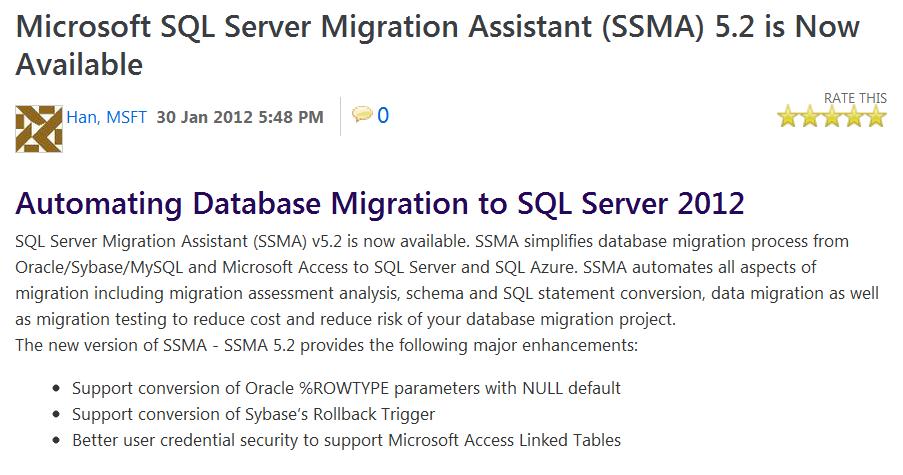 德瑞克:SQL Server 學習筆記: 下載與安裝SSMA v5 2 (SQL Server