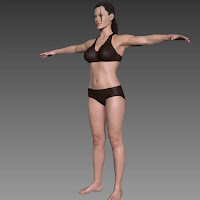 3d model Angelina Jolie body