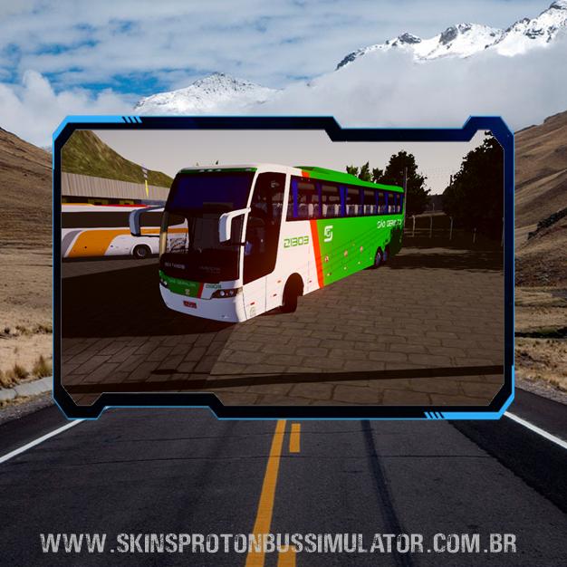 Skin Proton Bus Simulator Road - Jum Buss 380 Scania K380IB 6X2 Viação São Geraldo
