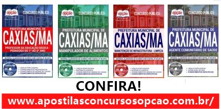 apostila da Prefeitura de Caxias Maranhão AGENTE COMUNITÁRIO DE SAÚDE