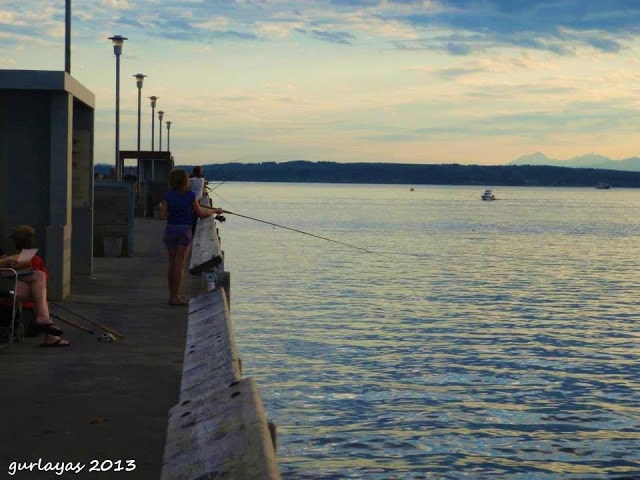 fishing by the Puget Sound by gurlayas.blogspot.com