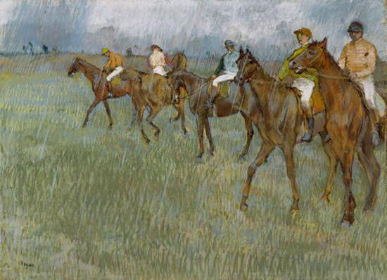 Jockeys in the Rain by Edgar Dega