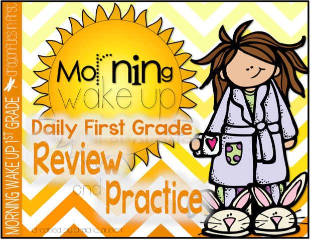 http://www.teacherspayteachers.com/Product/Morning-Wake-Up-1st-Grade-Common-Core-ELA-and-Math-UNIT-1-812305