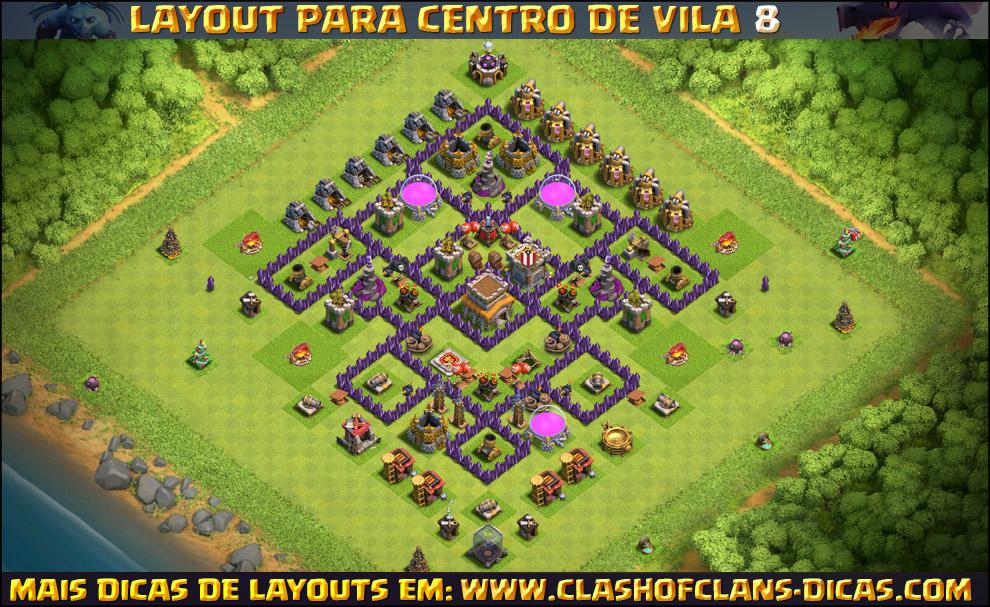layouts de centro de vila 8 para clash of clans clash of clans dicas