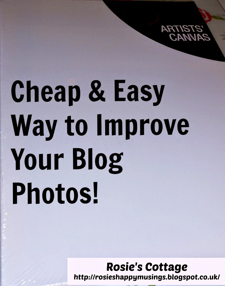 Blog Tips, Artist Canvas As Photo Backdrop