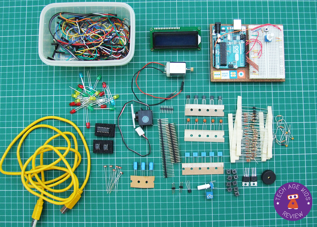 Arduino Starter Kit / Basic Kit Review | Tech Age Kids