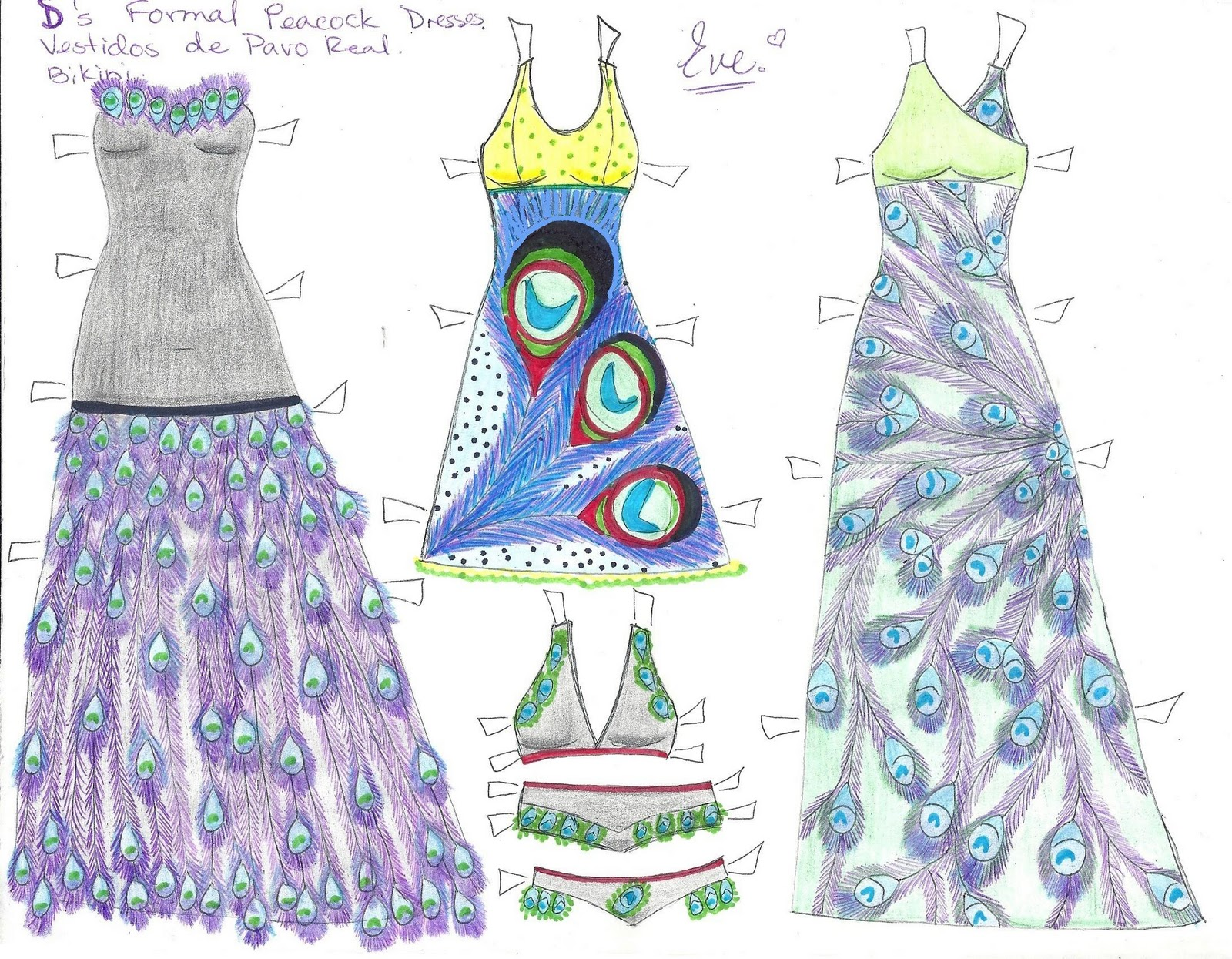 Paper Doll Eve D The Paper Doll Peacock Dresses