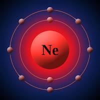Neon atomu ve elektronları
