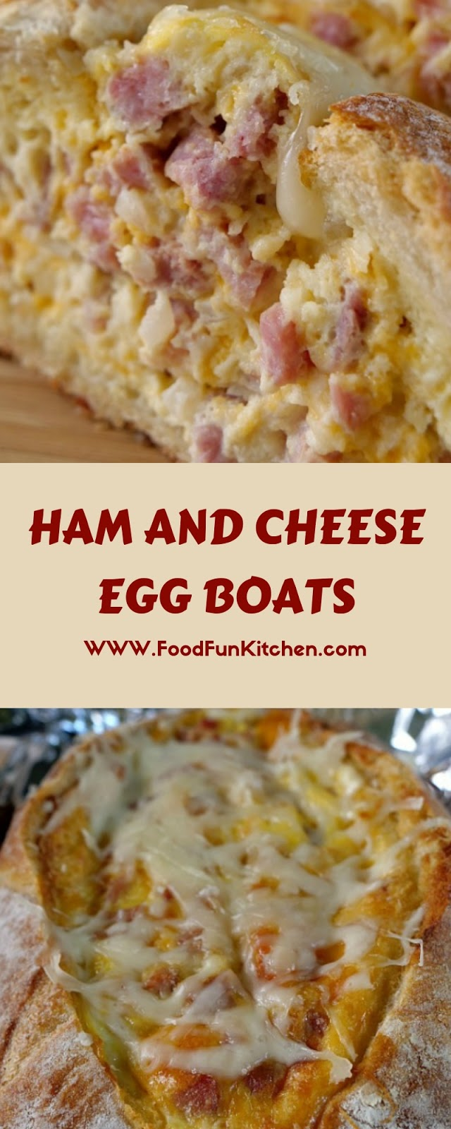 HAM AND CHEESE EGG BOATS