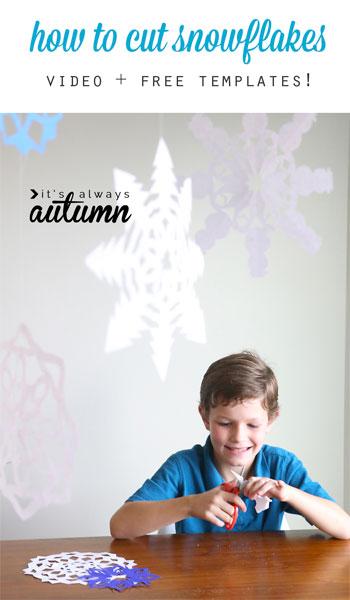 Copos de nieve de papel en It's always Autumn
