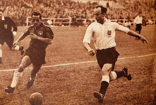 Chile e Inglaterra en partido amistoso, 24 de mayo de 1953