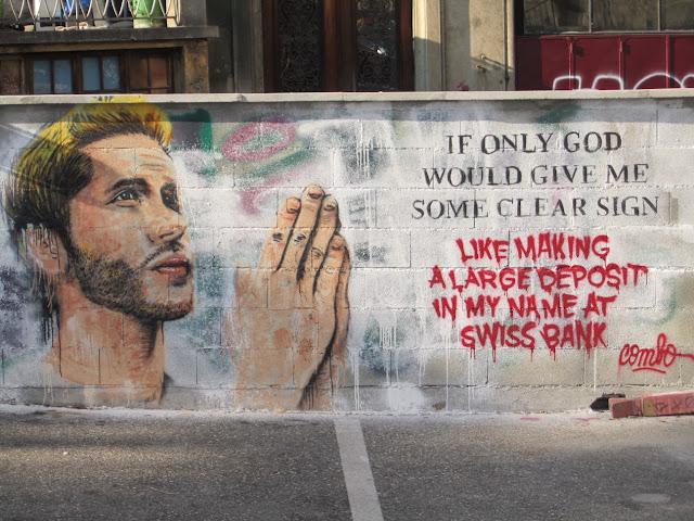 Genewa, zabawny mural