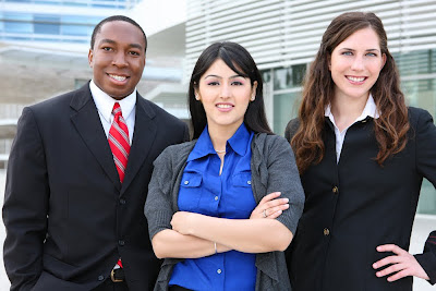 Photo of three young professionals