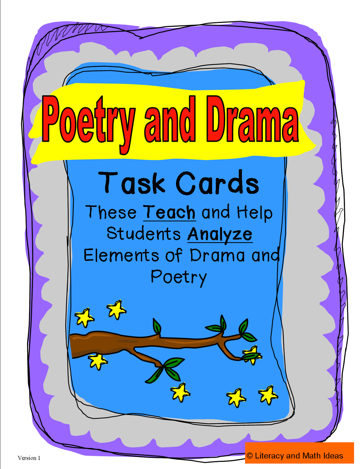 Literacy Amp Math Ideas Elements Of Drama