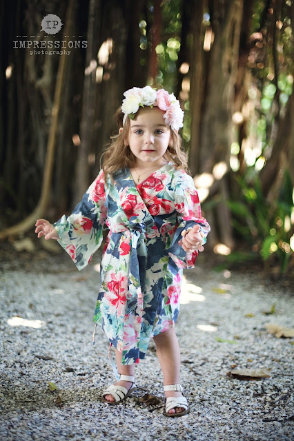 sanibel wedding flower girl robes