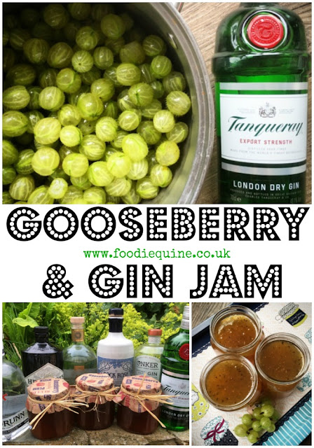 www.foodiequine.co.uk Play Gooseberry this summer with my boozy berry jam with a tangy juniper kick. Easy to make Gooseberry & Gin Jam is the perfect way to deal with a glut of berries. G&G is the new G&T!