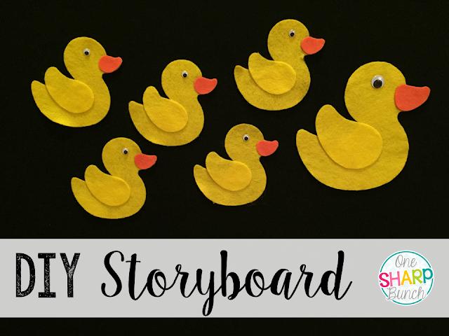 Step-by-step DIY felt board and Five Little Duck felt storyboard!