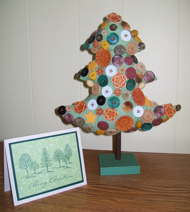 Button Christmas Trees: The Suitcase Journals: The DIY Button Christmas Tree